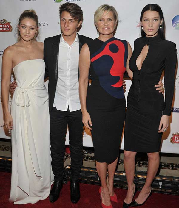 Yolanda Hadid with her children