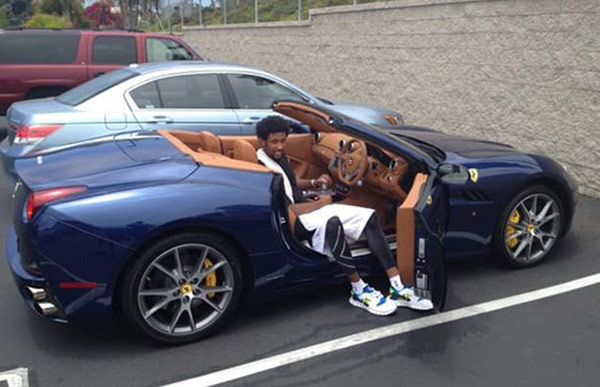 Anthony Davis on his luxury car