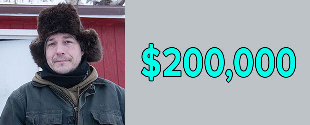 Life Below Zero Cast Chip Hailstone's net worth is $200,000 as of 2018