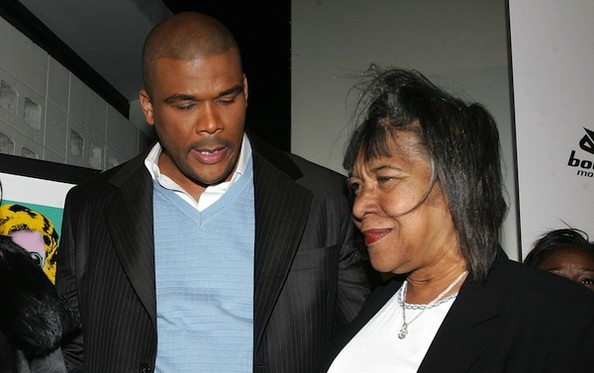 Tyler Perry with his mother Emmitt Perry