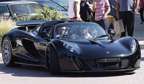 Tyler Perry on his luxury car.