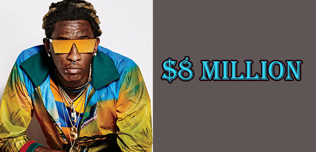 Young Thug Net Worth is $8 Million