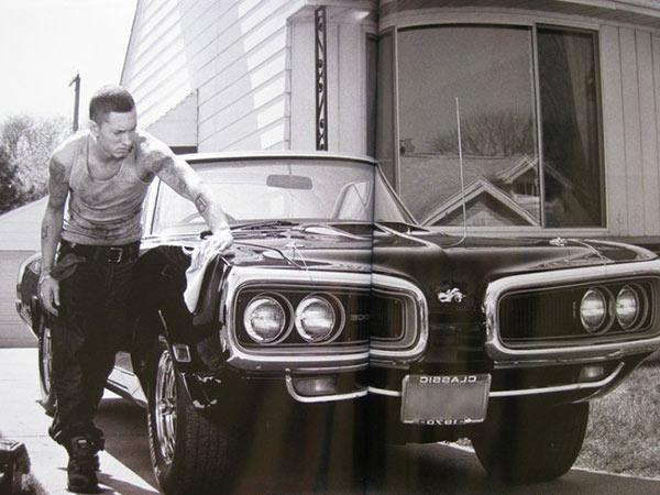 Eminem Cleaning His Car