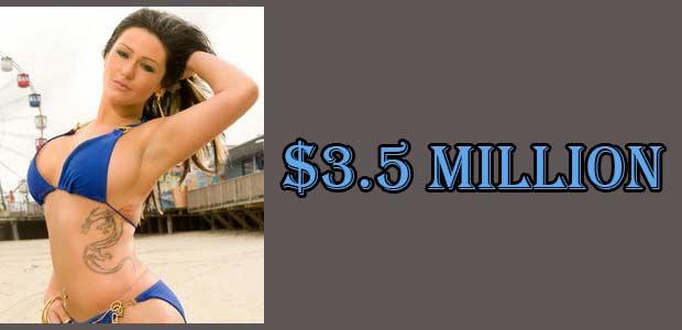 Jenny Farley,(JWoww)'s Net Worth is 3.5 Million