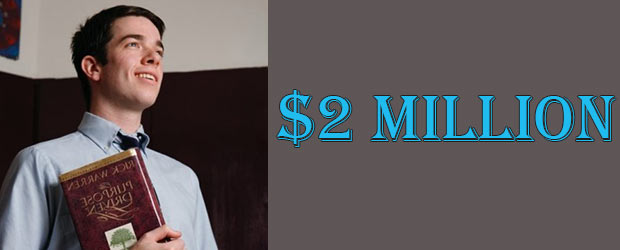 John Mulaney's Net Worth of 2018 is $2 million