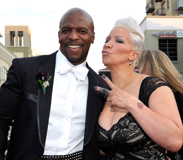Terry Crews with his wife Rebecca King Crews