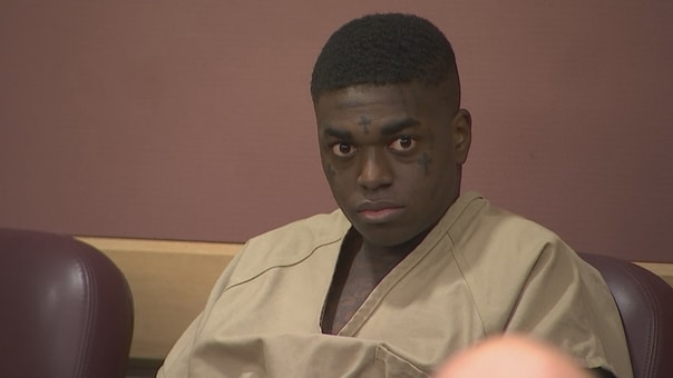 Kodak Black at court hearing in Florida on February 2018 for probation violation
