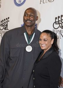 Image of Karl Malone and his wife Kay Kinsey
