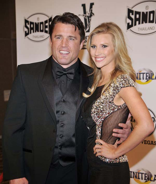 Chael Patrick Sonnen happy with his wife Brittany Smith