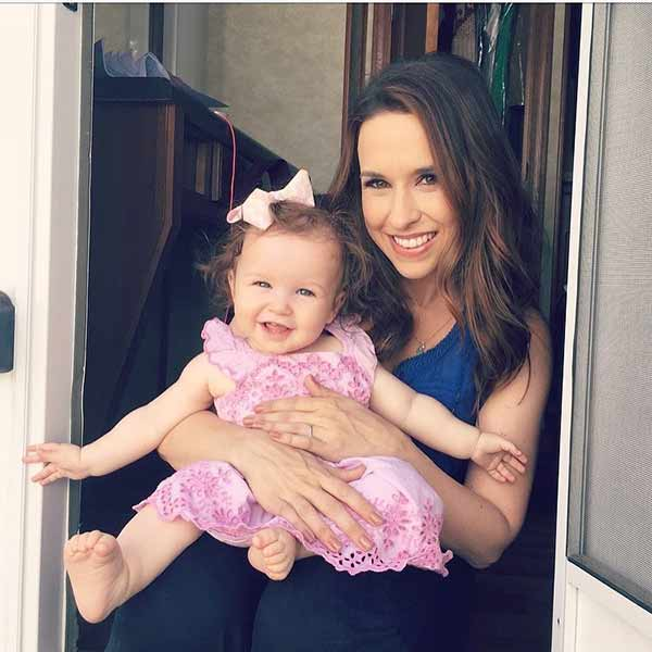 Image of Lacey Chabert with her daughter Julia Mimi Nehdar