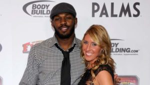 Image of Jon Jones with his wife Jessie Moses