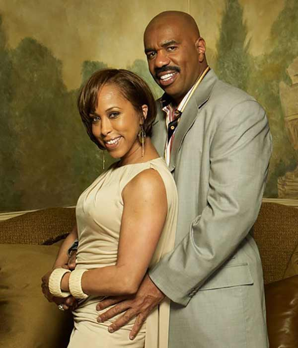 Image of Marcia Harvey with her ex-husband Steve Harvey