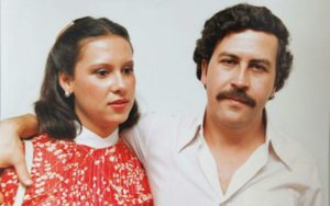Image of Maria Victoria Henao with her husband Pablo Escobar