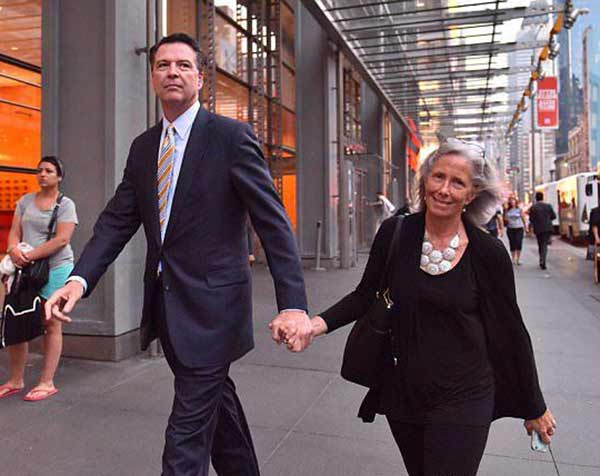 Image of Patrice Failor with her husband James Comey