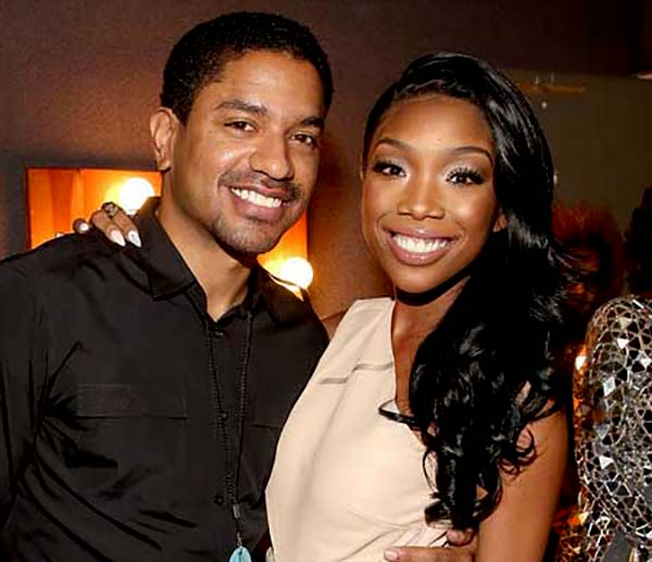Image of Brandy Norwood with her ex-husband Ryan Press