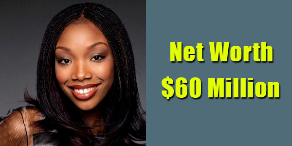 Image of Singer, Brandy Norwood net worth is $60 million