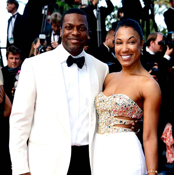 Image of Chris Tucker with his wife Azja Pryor