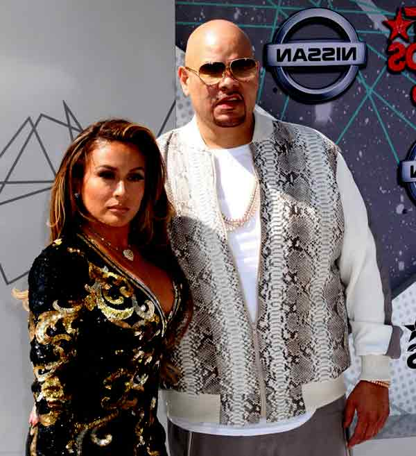 Image of Fat Joe with his wife Lorena Cartagena