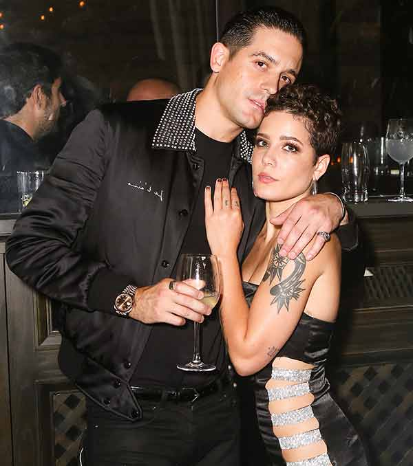 Image of Song writer, G-Eazy with his girlfriend Halsey.