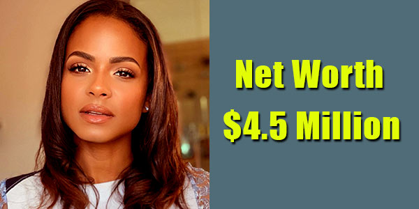 Image of American actress, Christina Milian net worth is $4.5 million
