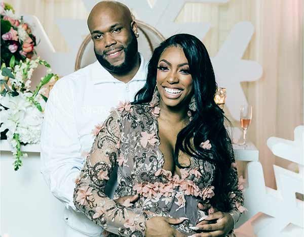 Image of Porsha Williams with her husband Dennis McKinley