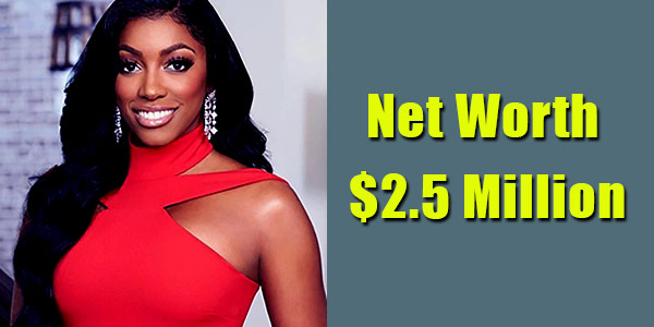 Image of TV Personality, Porsha Williams net worth is $2.5 million