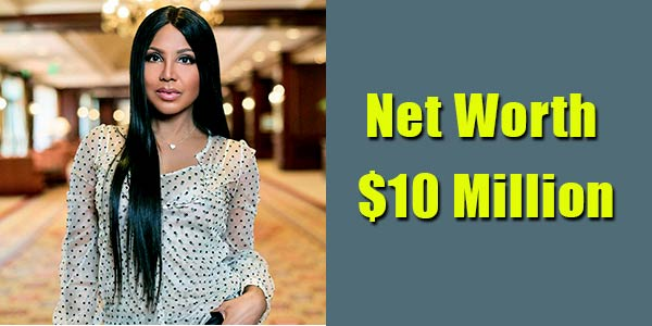 Image of TV Personality, Toni Braxton net worth is $10 million