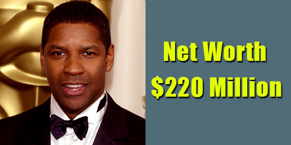 Image of Film Director, Denzel Washigton net worth is $220 million