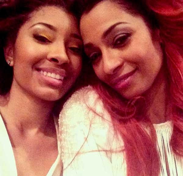 Image of Karlie Redd with her daughter Jasmine Lewis