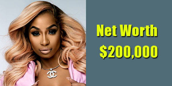 Image of TV Personality, Karlie Redd net worth is $200,000