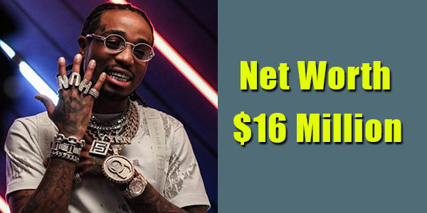 Image of Singer, Quavo net worth is $16 million