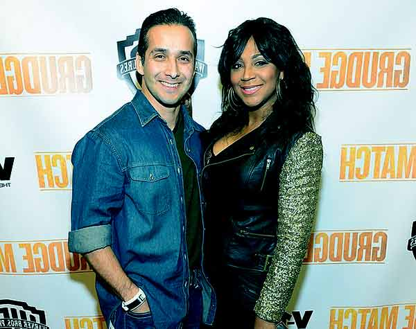 Image of Trina Braxton with her husband Gabe Solis