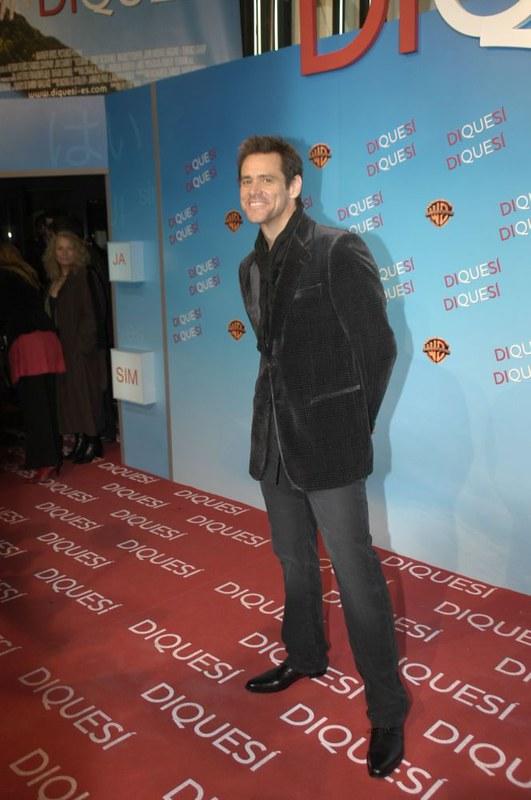 Jim Carrey at a film premiere.