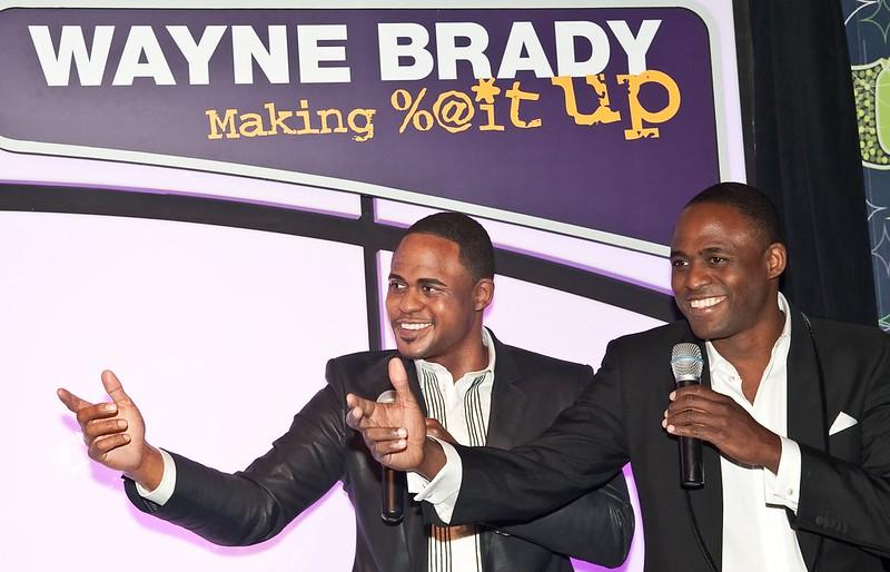 Wayne Brady at a conference