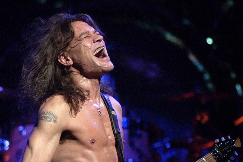 Eddie Van Halen at a concert