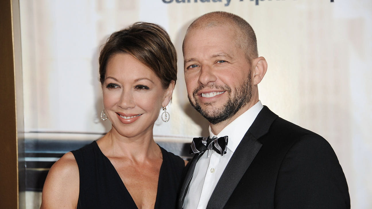 Jon Cryer and Lisa at a premiere